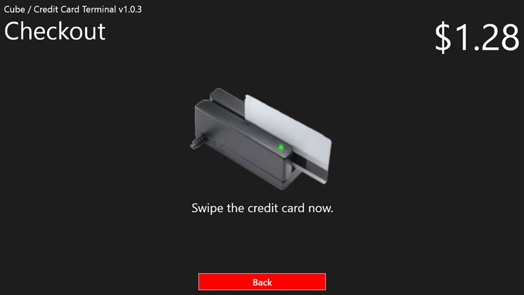 Cube Credit Card Terminal screen shot 3