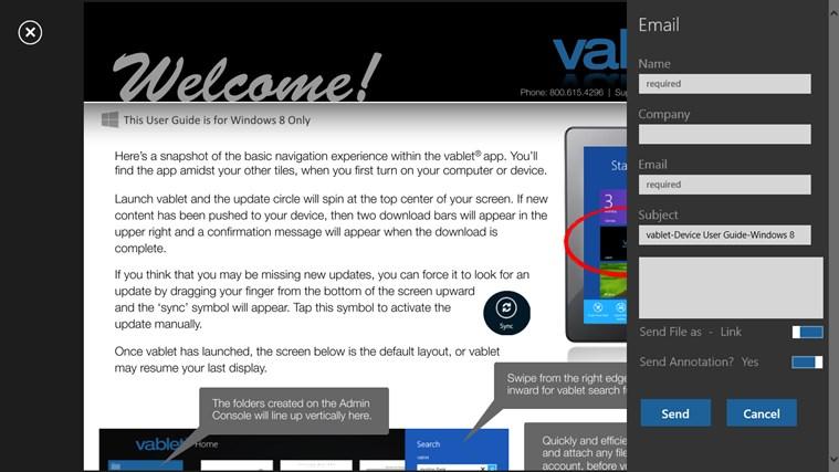 vablet screen shot 7