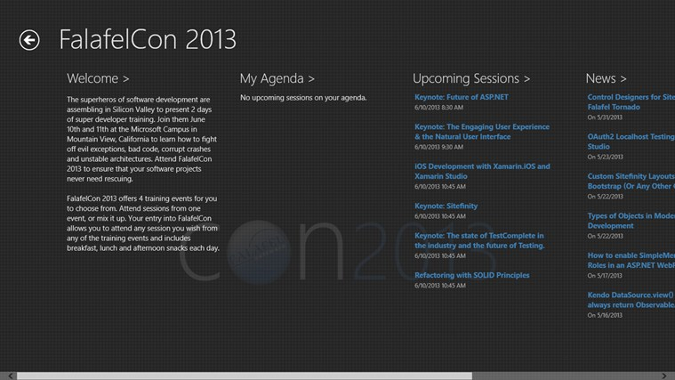 EventBoard screen shot 1