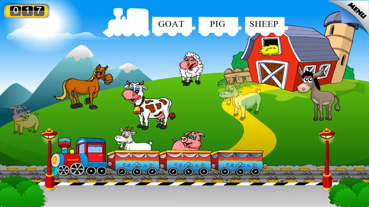 Animal Train - First Word screen shot 3