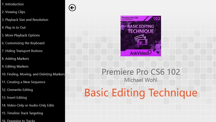 Premiere Pro CS6 - Basic Editing ภาพหน้าจอ 1