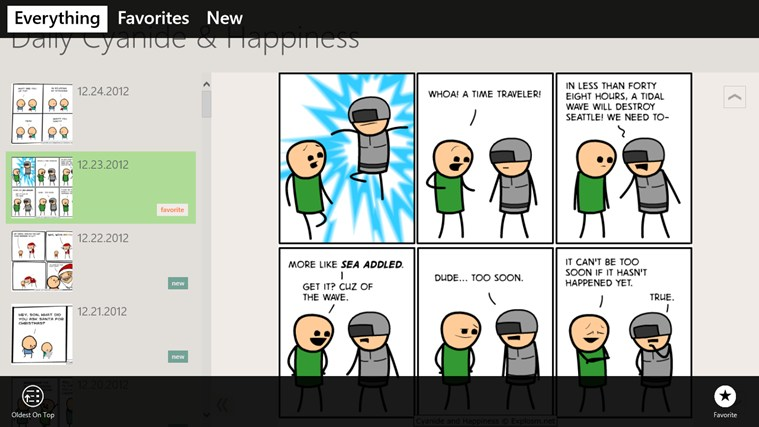 Daily Cyanide & Happiness screen shot 1