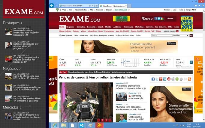 Exame.com captura de tela 3