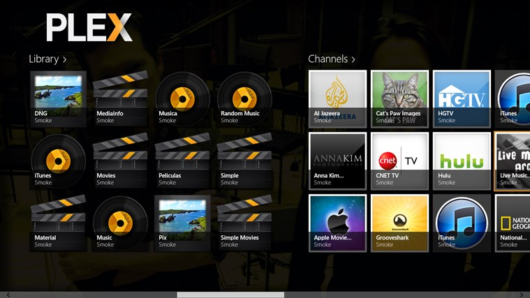 Plex schermafbeelding 1