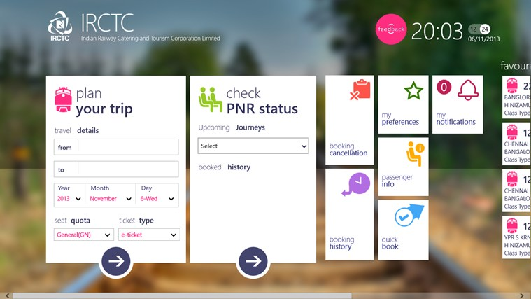 IRCTC Official screen shot 1