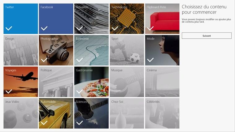 Flipboard capture d'écran 1
