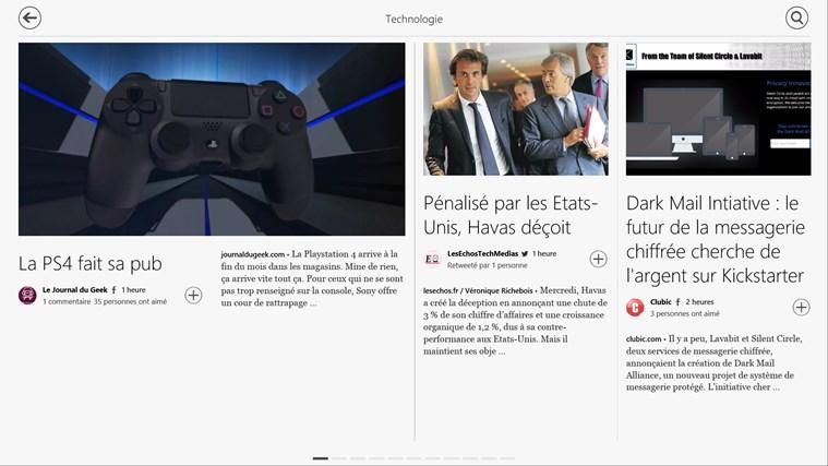 Flipboard capture d'écran 3