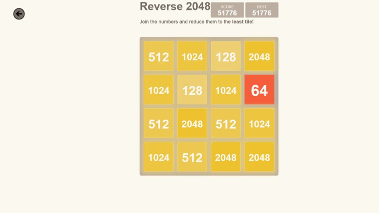 2048. screen shot 5