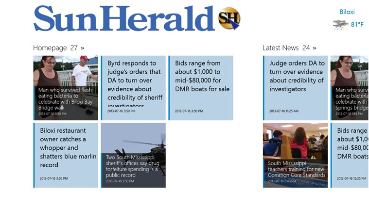 Sun Herald screen shot 1