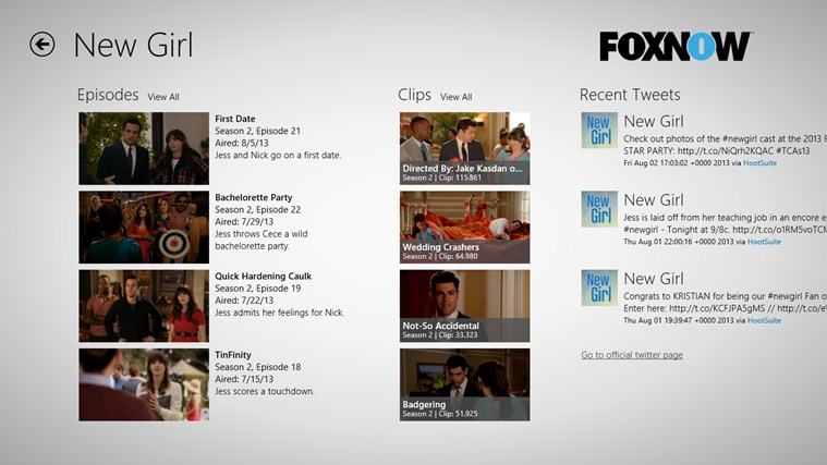 FOX NOW screen shot 1