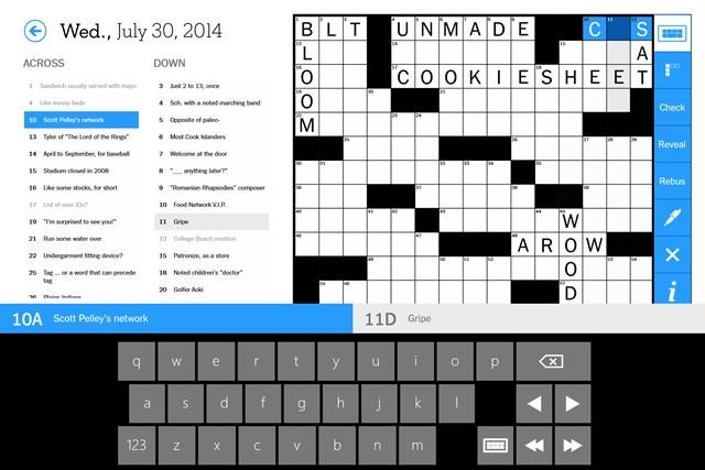 The New York Times Crossword screen shot 1