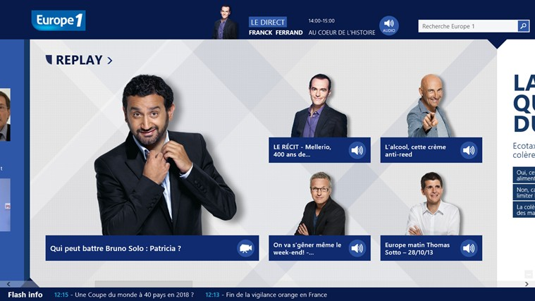 Europe 1 screen shot 1