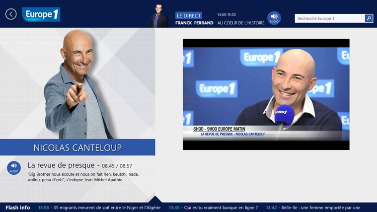 Europe 1 screen shot 3