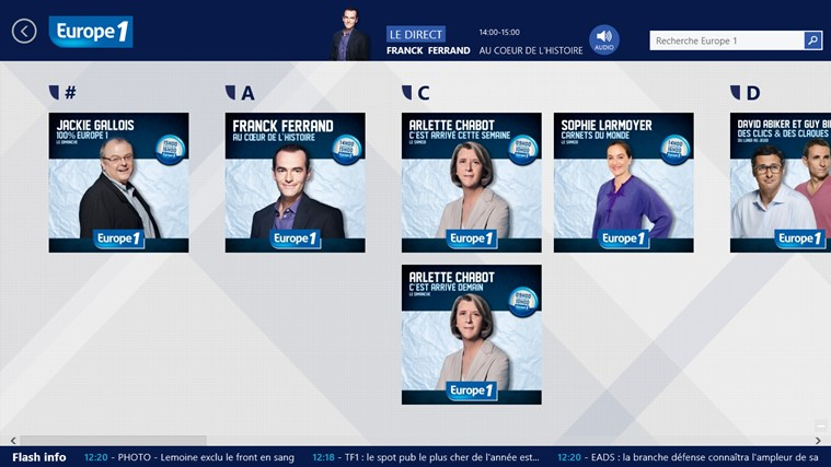 Europe 1 screen shot 5