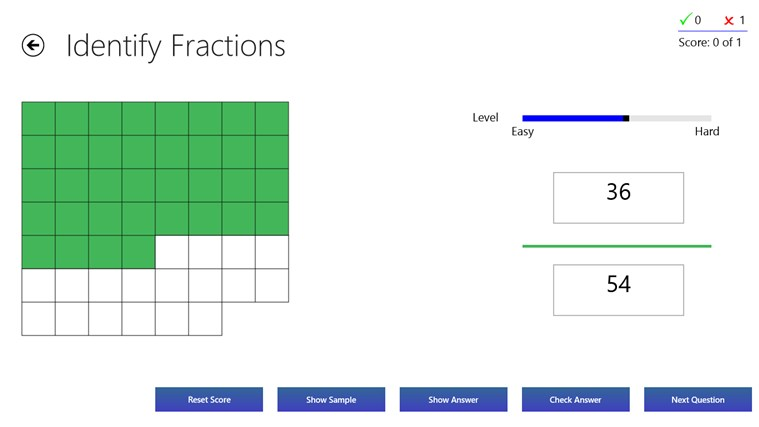 Fractions Practice screen shot 1