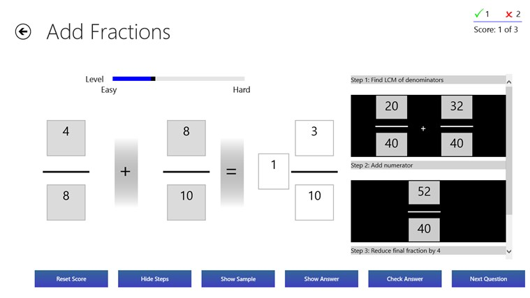 Fractions Practice screen shot 3