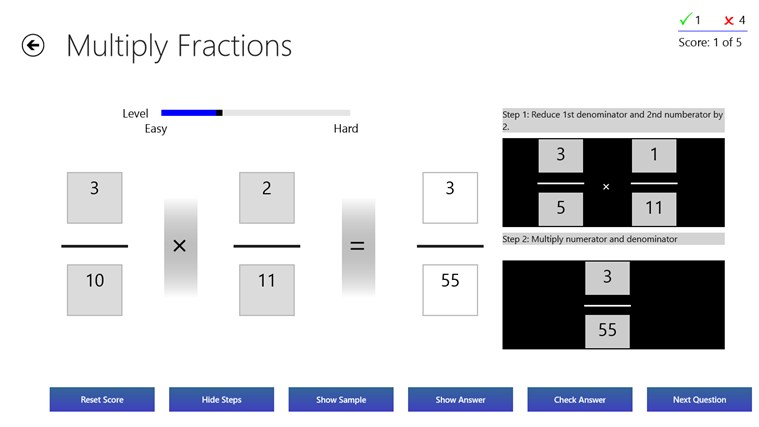 Fractions Practice screen shot 5