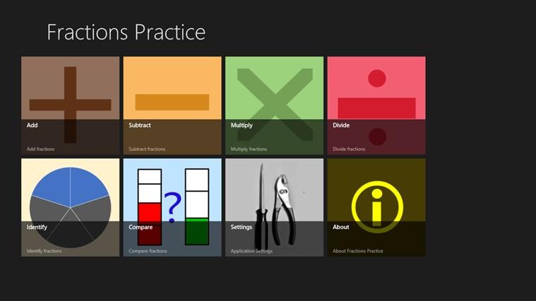 Fractions Practice screen shot 7