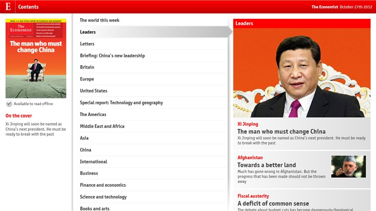 The Economist on Windows screen shot 1