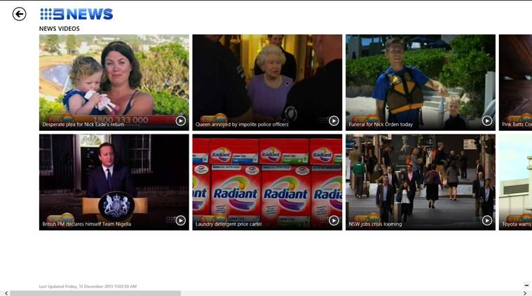 Nine News screen shot 1