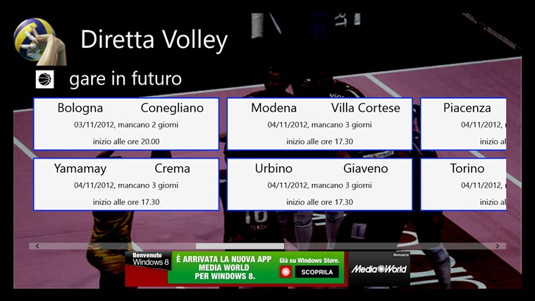 Diretta Volley screen shot 1