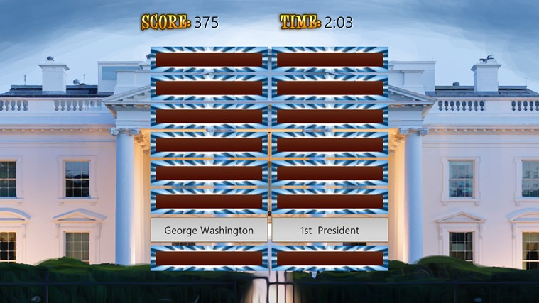 US Presidents (Match'Em Up™ History and Geography) screen shot 3
