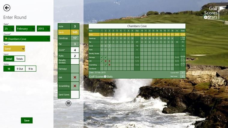 Golf Scores + Stats screen shot 1