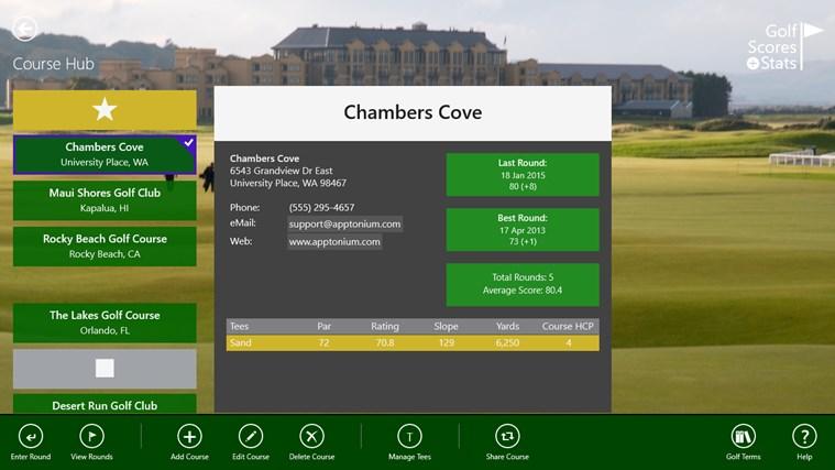 Golf Scores + Stats screen shot 3