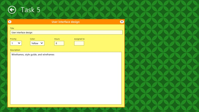 Project Task Board screen shot 1