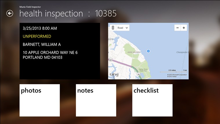 Munis Field Inspector screen shot 1