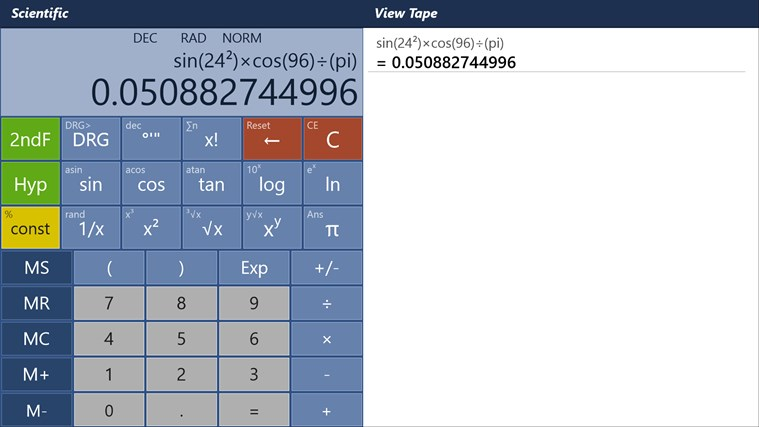 Calculator - Calc Pro HD screen shot 5