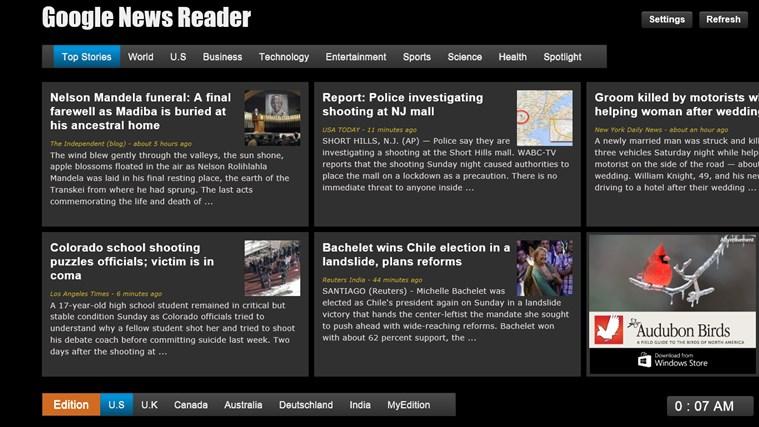 Google News - Reader screen shot 1