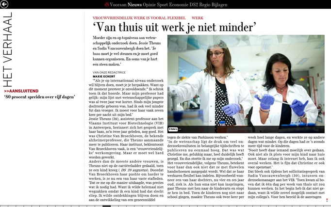 De Standaard digitale editie screen shot 3