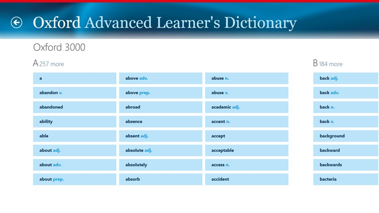 Oxford Advanced Learner's Dictionary, 8th edition Screenshot 3