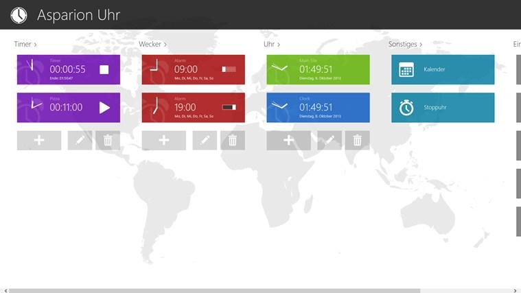 Uhr (Live Kachel, Wecker, Timer) Screenshot 1