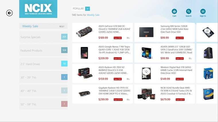 NCIX.com screen shot 3