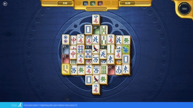 Microsoft Mahjong screen shot 1
