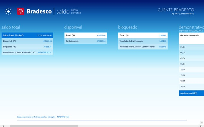 Bradesco screen shot 3