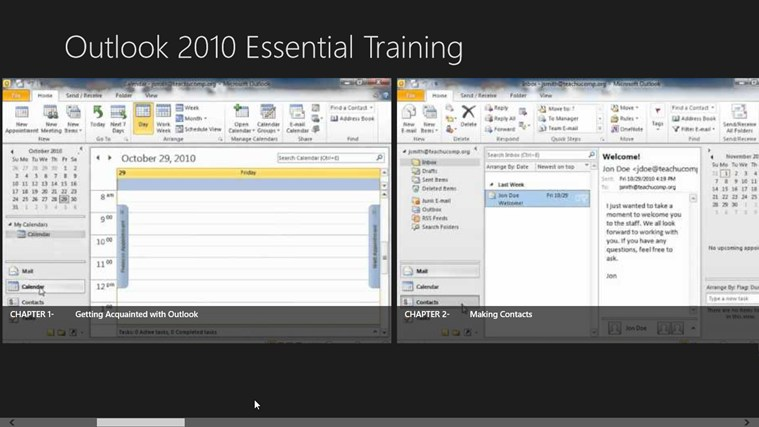 Outlook 2010 Tutorials: Essential Training screen shot 1