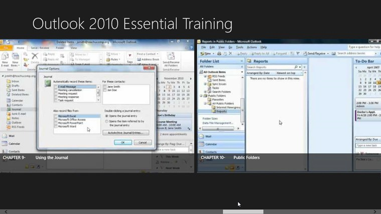 Outlook 2010 Tutorials: Essential Training screen shot 5