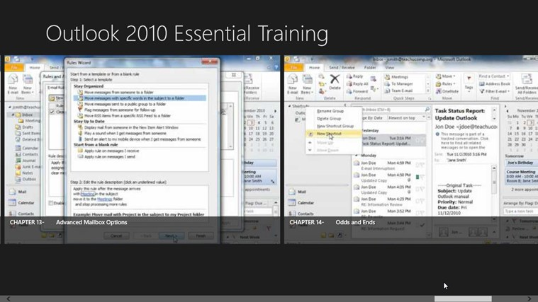 Outlook 2010 Tutorials: Essential Training screen shot 7