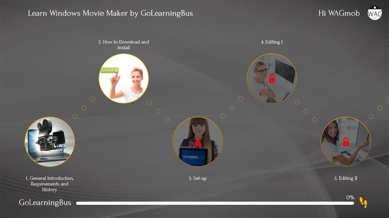 Learn Windows Movie Maker by WAGmob screen shot 1