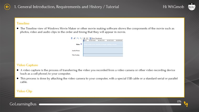 Learn Windows Movie Maker by WAGmob screen shot 3