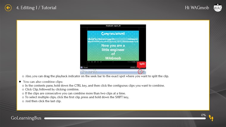 Learn Windows Movie Maker by WAGmob screen shot 5