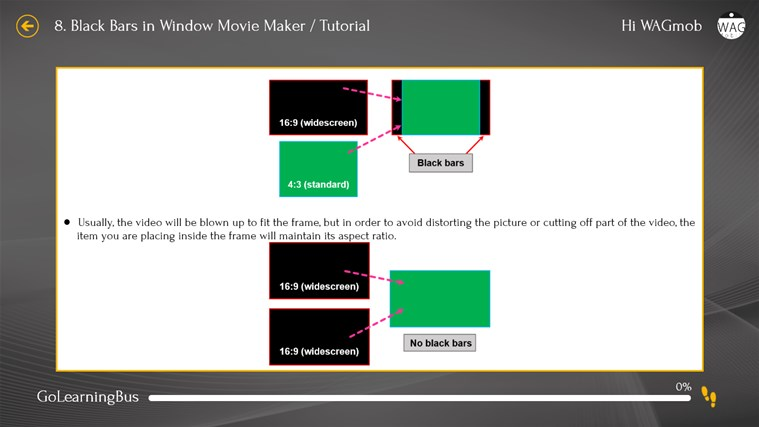 Learn Windows Movie Maker by WAGmob screen shot 7