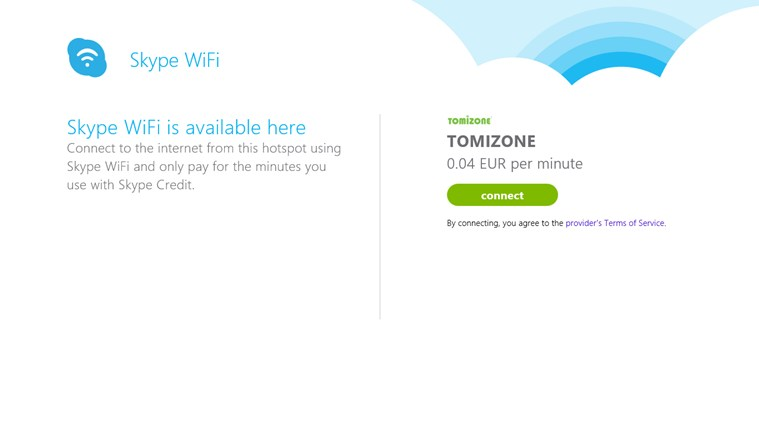 Skype WiFi screen shot 3