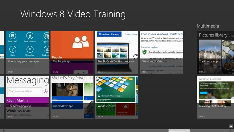 Video Training for Windows ® 8-skärmbild 1