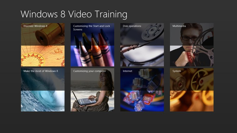 Video Training for Windows ® 8-skärmbild 5