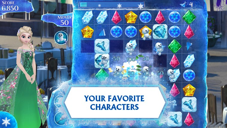 Frozen Free Fall screen shot 1