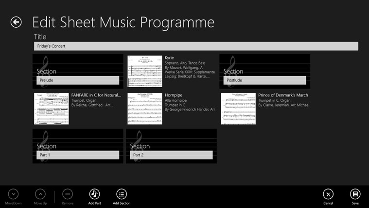 Sheet Music screen shot 3